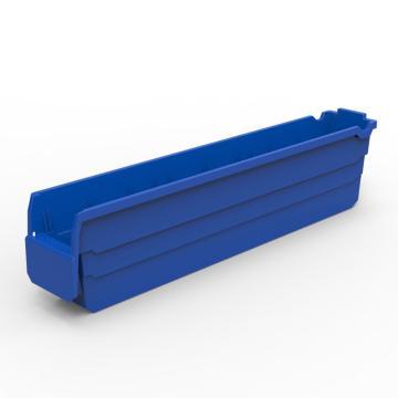 力王 货架物料盒,600*100*150mm,全新料,20个/箱,不含分隔片,SF6115-蓝色