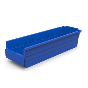 力王 货架物料盒,600*200*150mm,全新料,10个/箱,不含分隔片,SF6215-蓝色