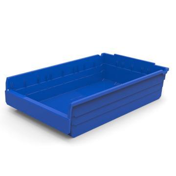 力王 货架物料盒,600*400*150mm,全新料,5个/箱,不含分隔片,SF6415-蓝色