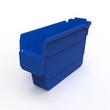 力王 货架物料盒,300*100*200mm,全新料,20个/箱,不含分隔片,SF3120-蓝色