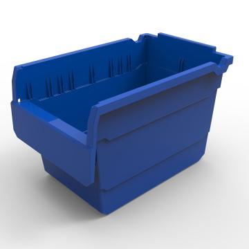 力王 货架物料盒,300*200*200mm,全新料,10个/箱,不含分隔片,SF3220-蓝色