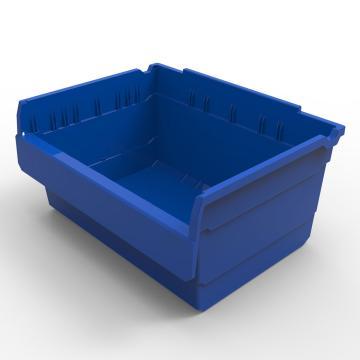 力王 货架物料盒,300*400*200mm,全新料,5个/箱,不含分隔片,SF3420-蓝色