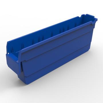 力王 货架物料盒,500*100*200mm,全新料,20个/箱,不含分隔片,SF5120-蓝色