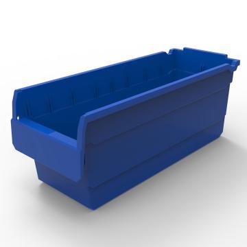 力王 货架物料盒,500*200*200mm,全新料,10个/箱,不含分隔片,SF5220-蓝色
