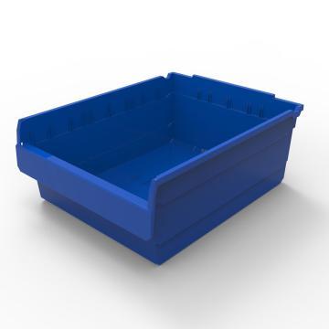 力王 货架物料盒,500*400*200mm,全新料,5个/箱,不含分隔片,SF5420-蓝色