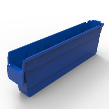 力王 货架物料盒,600*100*200mm,全新料,20个/箱,不含分隔片,SF6120-蓝色