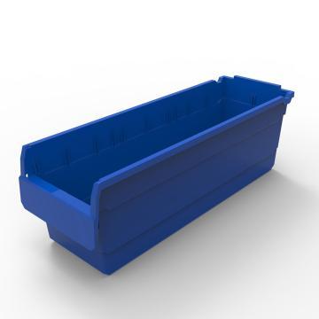 力王 货架物料盒,600*200*200mm,全新料,10个/箱,不含分隔片,SF6220-蓝色