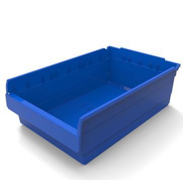 力王 货架物料盒,600*400*200mm,全新料,5个/箱,不含分隔片,SF6420-蓝色