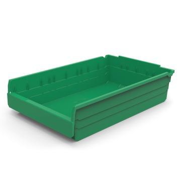 力王 货架物料盒,600*400*150mm,全新料,5个/箱,不含分隔片,SF6415-绿色