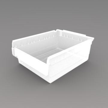 力王 货架物料盒,500*400*200mm,全新料,5个/箱,不含分隔片,SF5420-透明