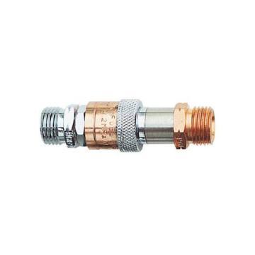 捷锐防逆快速接头,气管至气管联接用,HH55X,适用气体:氧气,进气螺纹:G3/8-RH(M)