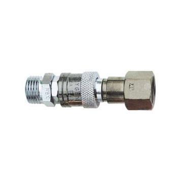 捷锐防逆快速接头,气管至焊割炬联接用,HT52F,适用气体:燃气,进气螺纹:G3/8-LH(M)