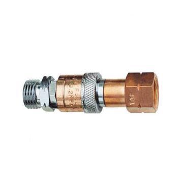 捷锐防逆快速接头,气管至焊割炬联接用,HT52X,适用气体:氧气,进气螺纹:G3/8-RH(M)