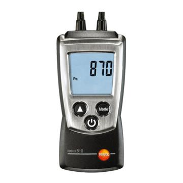 德圖/Testo 差壓測量儀, 便攜式差壓測量儀,0~100hPa,testo 510,訂貨號:0563 0510