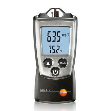 德圖/Testo 空氣濕度和溫度測量儀 ,內置傳感器 testo 610 訂貨號0560 0610