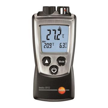 德图/Testo 便携式温度测温仪,红外测温/NTC测温双功能 内置NTC传感器,testo 810,订货号:0560 0810