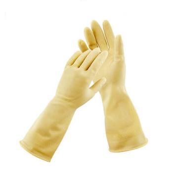 威蝶 乳胶防化手套,45cm,45A-1中厚,白色