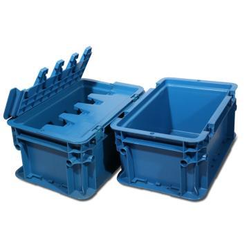 力王 A型第二代周转箱,PK-A2(带盖),外尺寸:300×200×148mm,蓝色