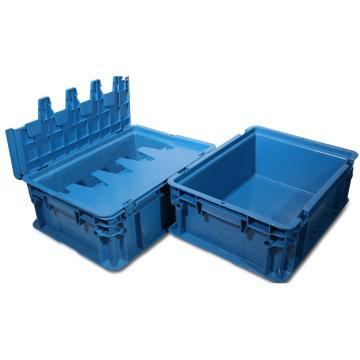 力王 B型第二代周转箱,PK-B2(带盖),外尺寸:400×300×148mm,蓝色
