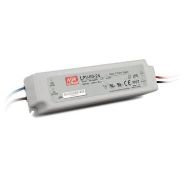 明纬 防水开关电源IP67,LPV-60-24