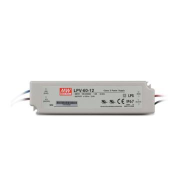 明纬 防水开关电源IP67,LPV-60-12