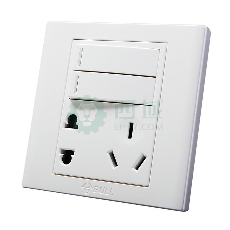 电工 开关插座,接线板 插座 公牛g06系列两三极 两位双控开关插座 10a