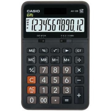 卡西欧 常规计算器,AX-12B 黑色 单位:台