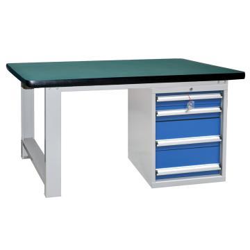 四抽重型工作桌1500L*750D*800Hmm(台面厚50mm)