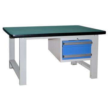 吊二抽重型工作桌2100L*750D*800Hmm(台面厚50mm)