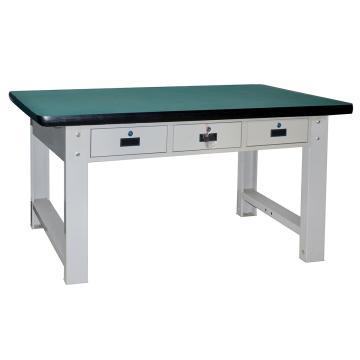 横三抽重型工作桌1500L*750D*800Hmm(台面厚50mm)