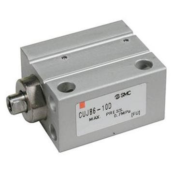 SMC 小型自由安裝型氣缸,雙作用,桿端內螺紋,CUJB6-4D