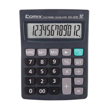 齊心 經濟辦公卡裝計算器,KA-835 黑 單位:臺