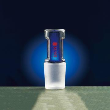 空心玻璃塞,直型设计,磨口:24/29,可用于磨口夹CS002440配套