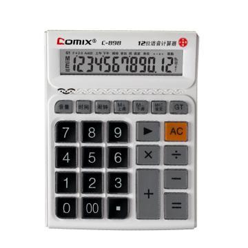 齐心 计算器,C-898 大台 舒视语音王 白 单位:台