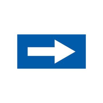 安赛瑞 流向箭头,自粘性乙烯表面覆膜,蓝底白箭头,25×50mm,15417,10张/包