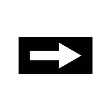 安赛瑞 流向箭头,自粘性乙烯表面覆膜,黑底白箭头,25×50mm,15416,10张/包