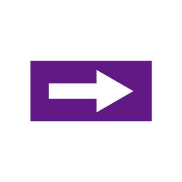 流向箭头-自粘性乙烯材料,表面覆保护膜,紫底白箭头,25×50mm,10张/包,15414
