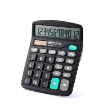 齊心 計算器,C-837C 中臺 超省錢普通辦公 黑 單位:臺