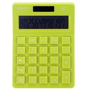 齐心 C-6S 计算器 小台 苹果系列时尚办公 绿