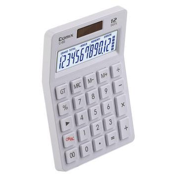 齐心 C-6S 计算器 小台 苹果系列时尚办公 白