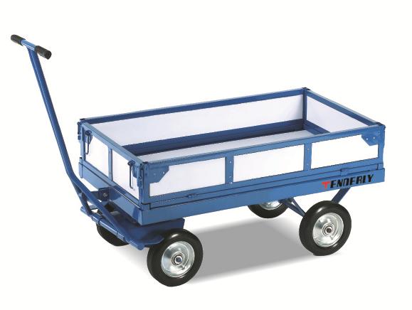泰得力 平板推车,带侧板 载重500kg 台板尺寸 长1200*宽700mm