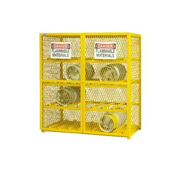 水平气罐存储柜,宽深高:1524*762*1822,可装16个气罐