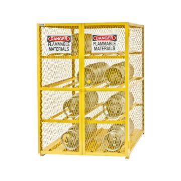 水平气罐存储柜,宽深高:1270*1067*1822,可装12个气罐