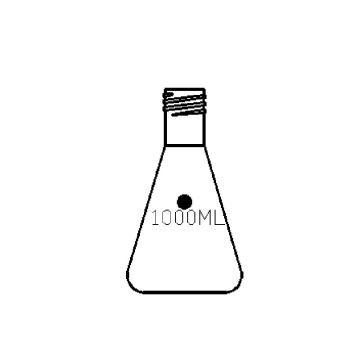 外螺纹口三角瓶,1000ml,螺纹口GL32