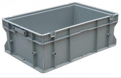 力王 PK-F无盖周转箱,外尺寸:600×400×220mm,灰色
