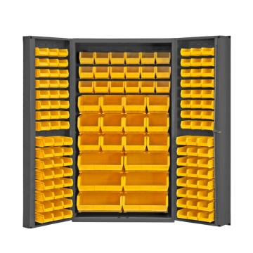 DURHAM MFG 存储柜,宽*深*高(mm):914*610*1829,含132个物料箱,托架承重(KG):295