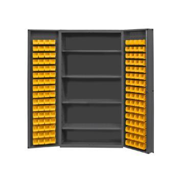 DURHAM MFG 存储柜,宽*深*高(mm):1219*610*1829,含128个物料箱、4个托架,托架承重(KG):318