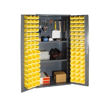 DURHAM MFG 存储柜,宽*深*高(mm):914*610*1829,含96个物料箱、2个搁板,搁板承重(KG):408