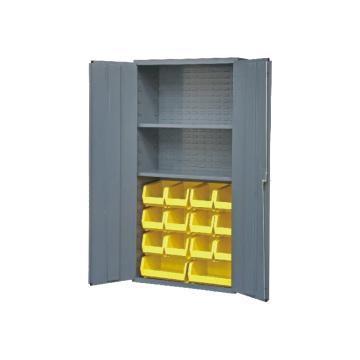 DURHAM MFG 存儲柜,寬*深*高(mm):914*457*1829,含14個物料箱、2個擱板,擱板承重(KG):408