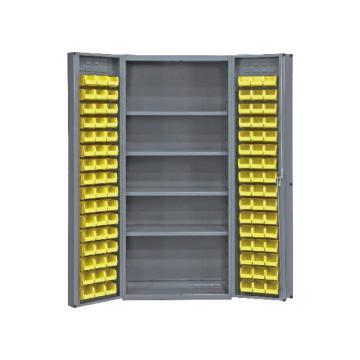 DURHAM MFG 存储柜,宽*深*高(mm):914*610*1829,含96个物料箱、4个托架,托架承重(KG):408